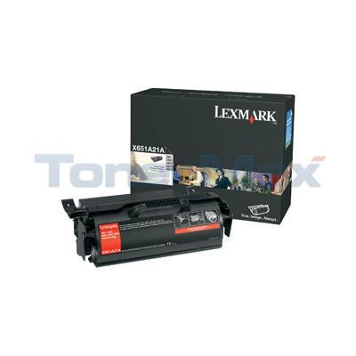 LEXMARK X651DE PRINT CART BLACK